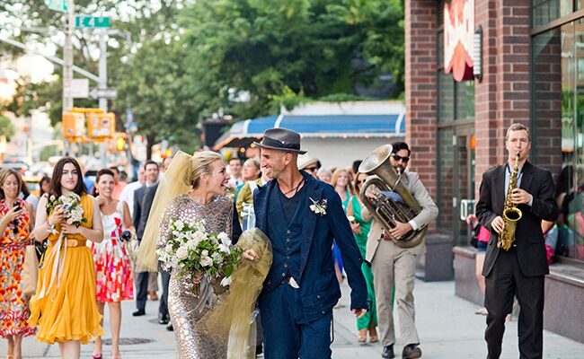 Youve got to see piper perabos silver wedding dress and yellow veil piper perabo wedding dave robbins photography theknot junglespirit Choice Image