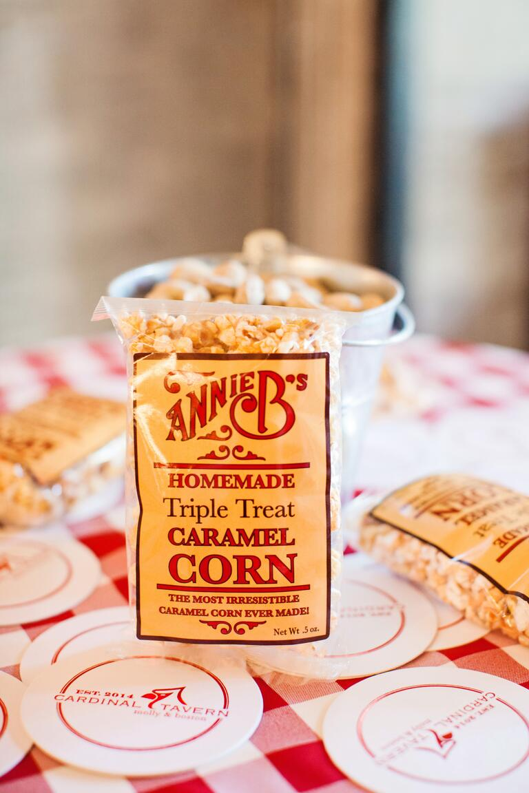 Bag of homemade caramel corn