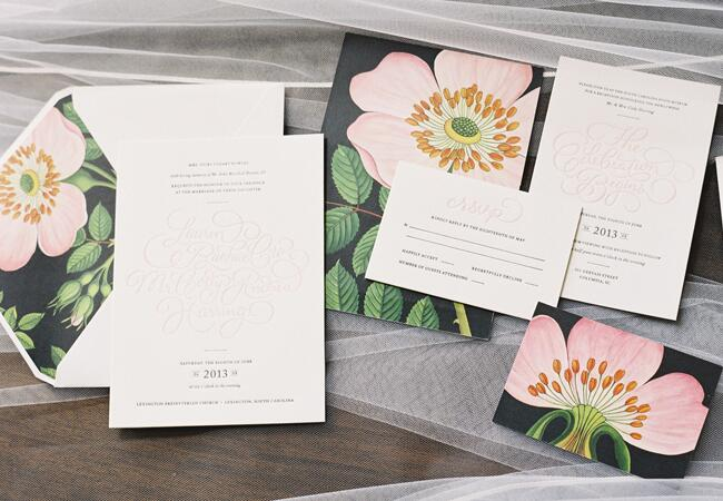 Hand-Drawn Peony Invitations |<img class=