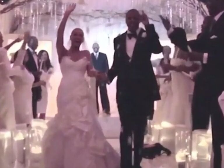 Beyonce And Jay Z Walk Down The Aisle On Their Wedding Day