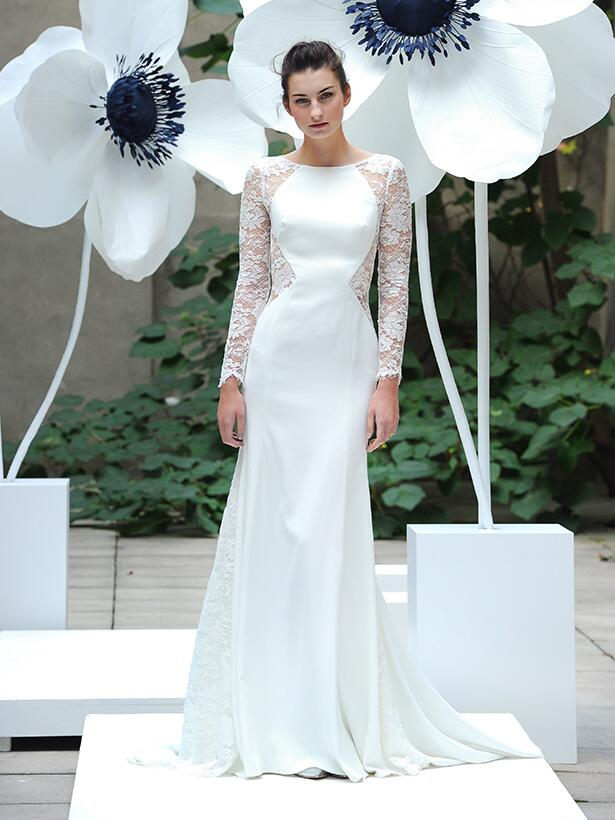 Lela Rose wedding dress lace wedding dress with long sleeves