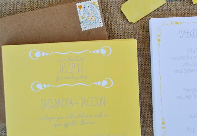 Delphine Press save the date/ The Knot blog
