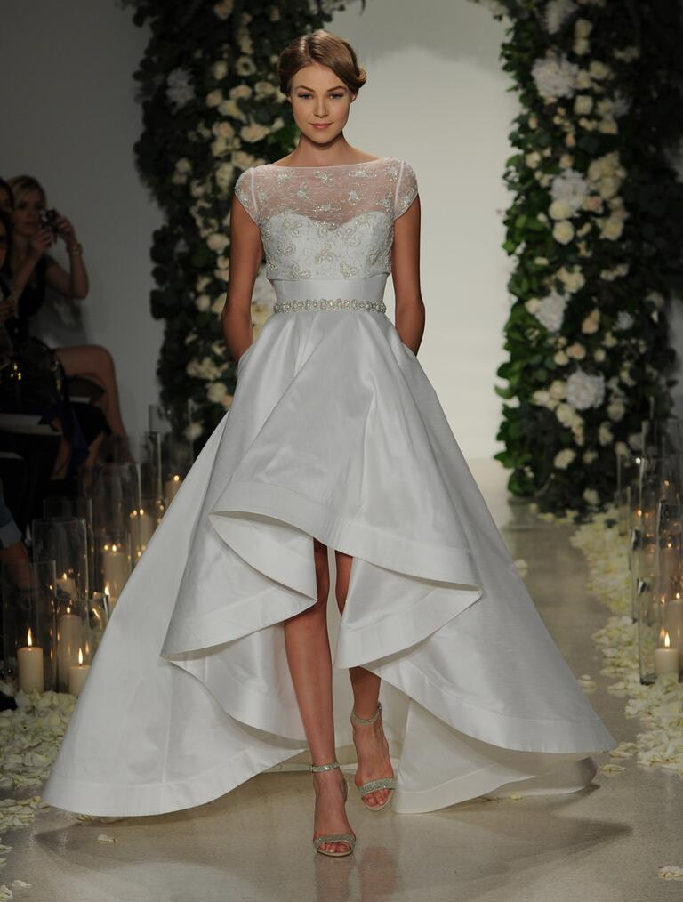 Get whitney port 39 s high low wedding dress look for High low ball gown wedding dress