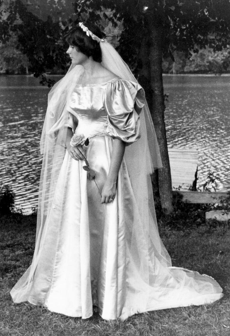 Leslie Kingston wedding dress from 1977