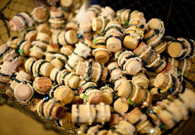 Wine Cork Favors // John & Joseph Photography // Planner: Details Details // Location: Ponte Winery