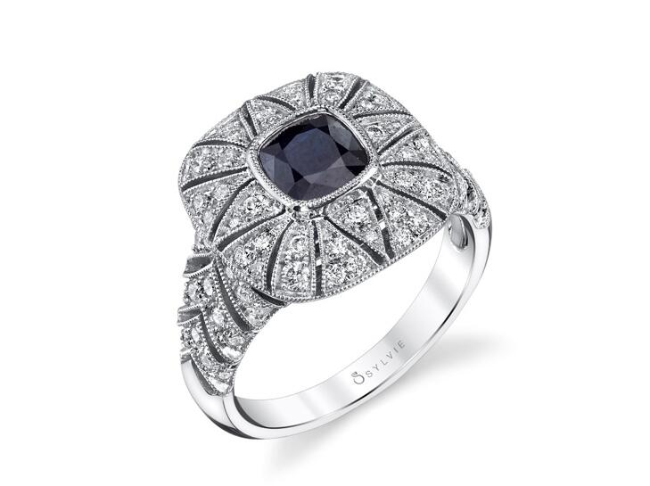 sylvie collection sapphire ring