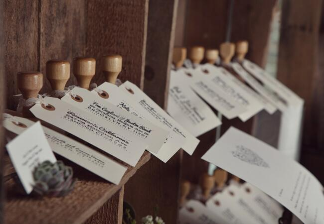 Rubber Stamp Escort Cards