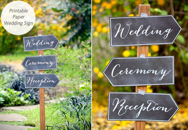 DIY Wedding Signs: My Own Labels / TheKnot.com