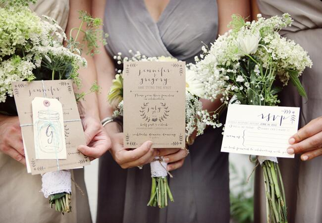 DIY stamped wedding decor: Amanda Julca Photography / TheKnot.com