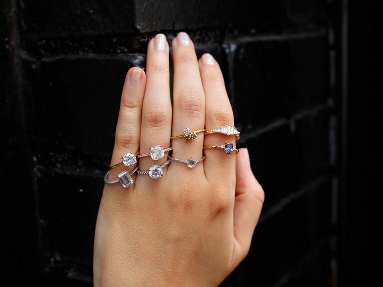 Minimal Engagement Rings
