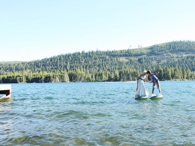 Paddle board wedding