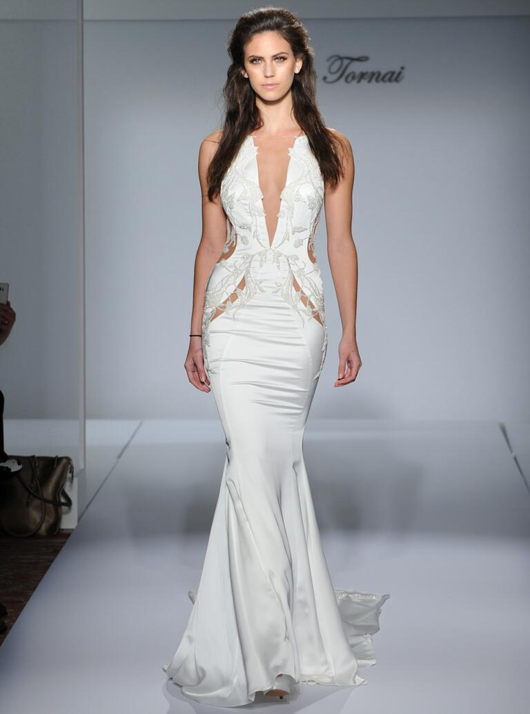 Ideas Super Sexy Wedding Dress pnina tornai fall 2016 collection wedding dress photos sexy mermaid with sheer waist cutouts and plunging v neckline from