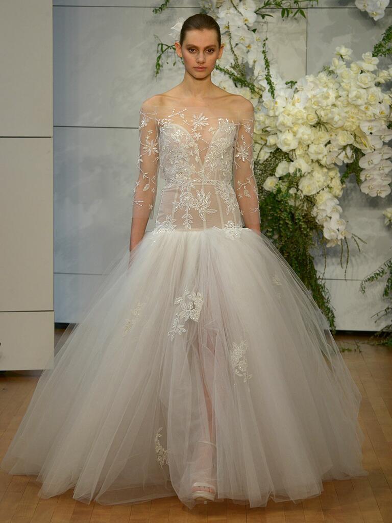 Monique lhuillier spring 2018 collection bridal fashion for Monique lhuillier wedding dress designers