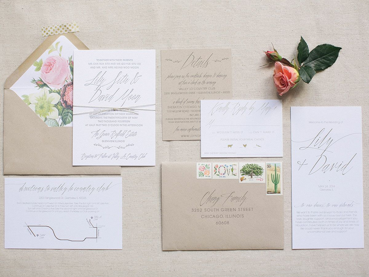 A Glossary of Important Wedding Invitation Terms