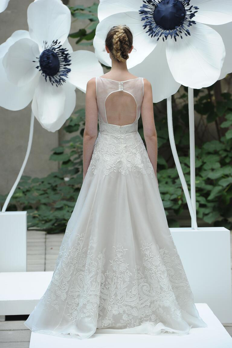 Lela Rose open-back wedding dress