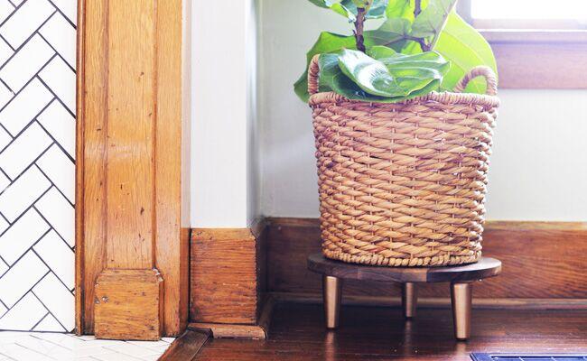 DIY A Stylish Mid Century Plant Stand