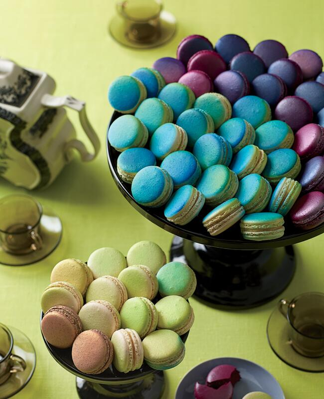 Colorful macarons wedding dessert | Philip Ficks | blog.theknot.com