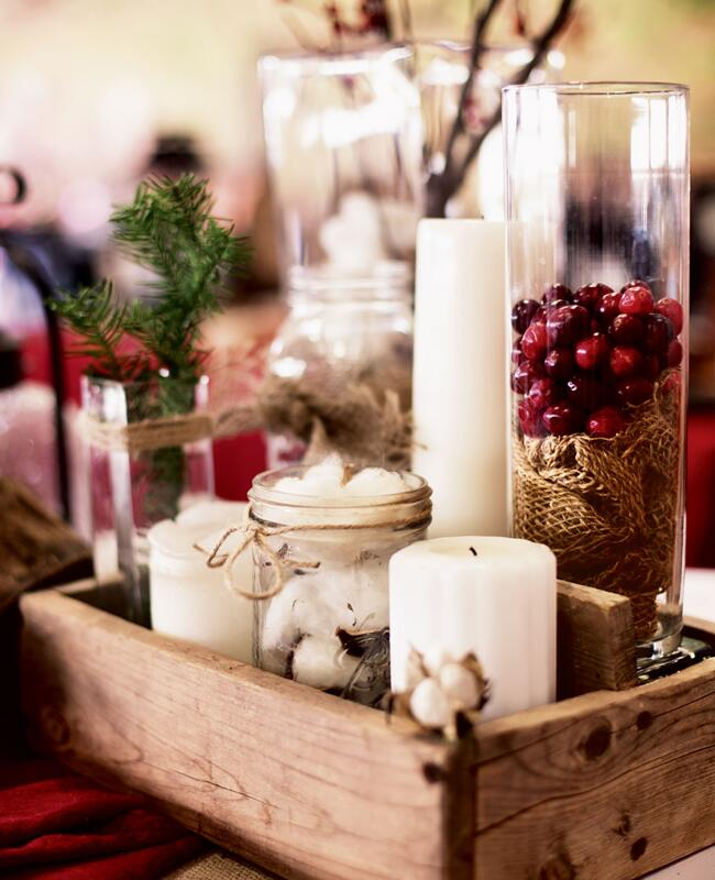 Christmas Wedding Flower Ideas: 10 Pretty Centerpieces (Without A Flower In Sight