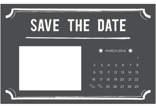 Adaptable image throughout printable save the dates templates
