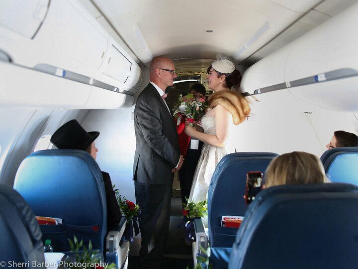 plane wedding ceremony