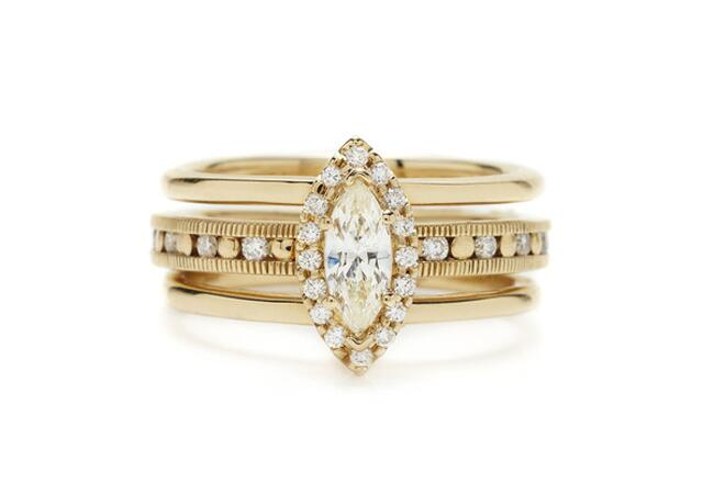 5 Unique Marquise Engagement Rings Similar to Ashlee Simpson's