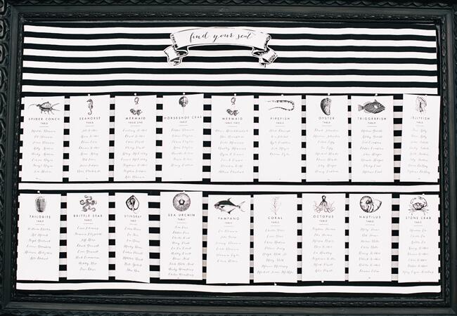 Nautical Black-and-White Seating Chart |<img class=