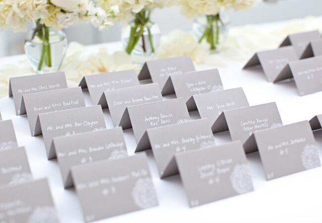 DIY stamped wedding decor: Click Photography / TheKnot.com