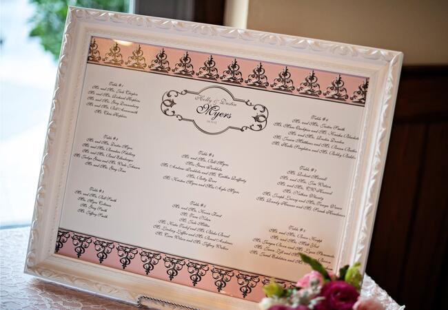 Elegant Framed Seating Chart | Kristen Weaver Photography | blog.TheKnot.com