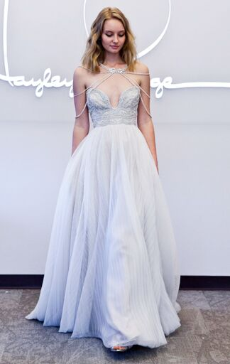 This Hayley Paige Spring 2017 Gown Guarantees One Blinged Out Bride From The Neck To All Way Down
