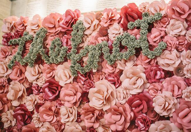 Paper Flower Backdrop Ideas