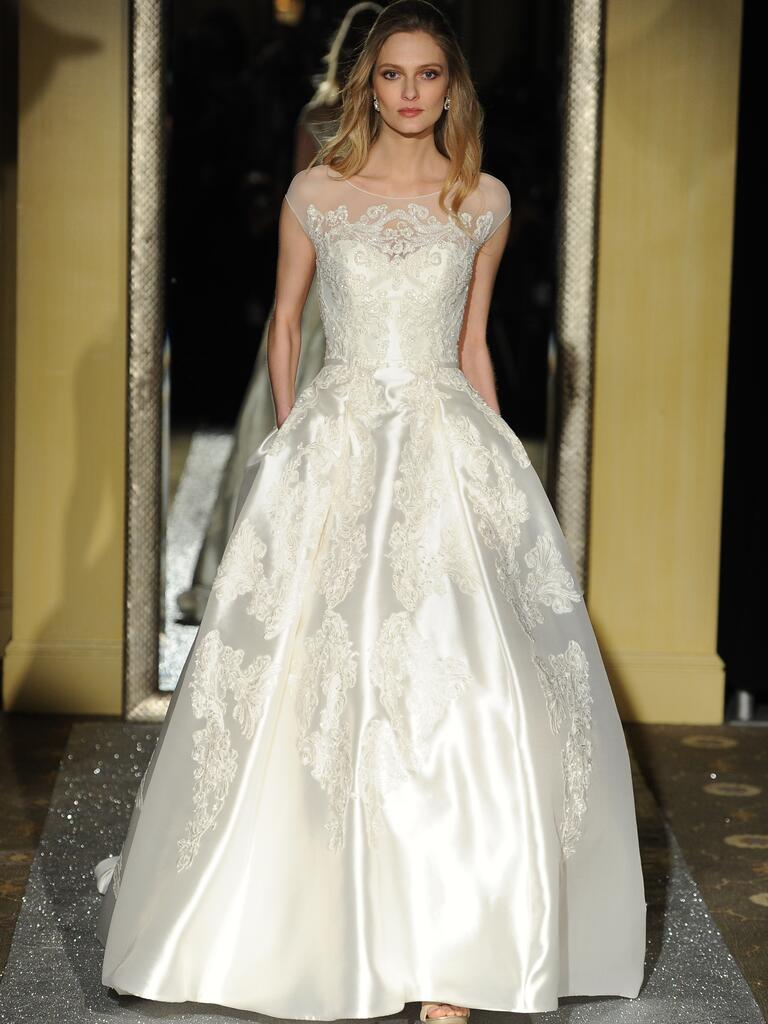 Oleg cassini spring 2016 bridal fashion week photos for Wedding dress designer oleg cassini
