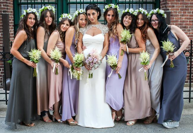 Bridesmaids wearing flower crowns: Paul O'Reilly Photography / TheKnot.com