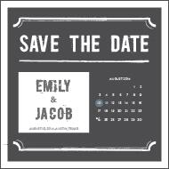Save the date templates the knot white chalk template pronofoot35fo Images