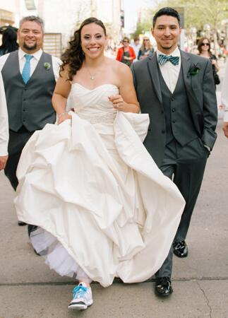 Brides who didn't wear heels |DeFiore Photography | blog.theknot.com
