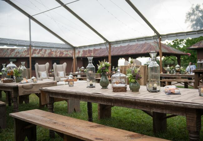 Rustic Welcome Party // Photo: Carla Ten Eyck