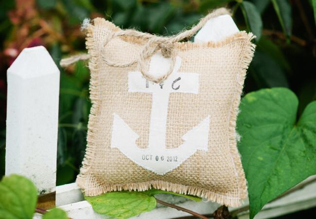 DIY stamped wedding decor: Kate Connolly / TheKnot.com