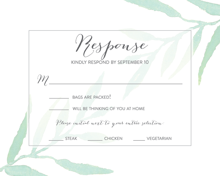 rsvp cards for weddings templates - wedding rsvp wording ideas