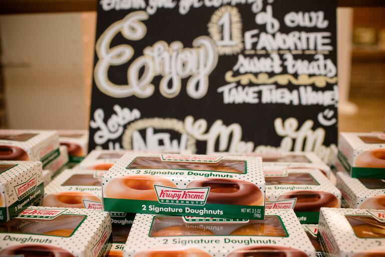 Krispy Kreme doughnut favors