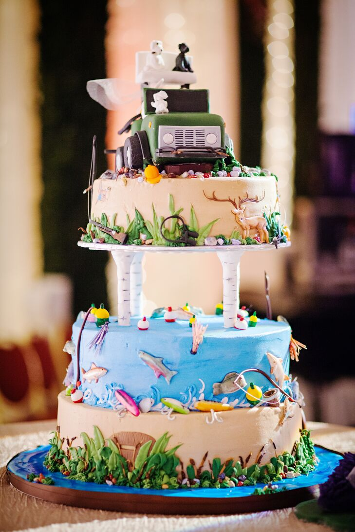 Outdoor Adventure Themed Groom's Cake