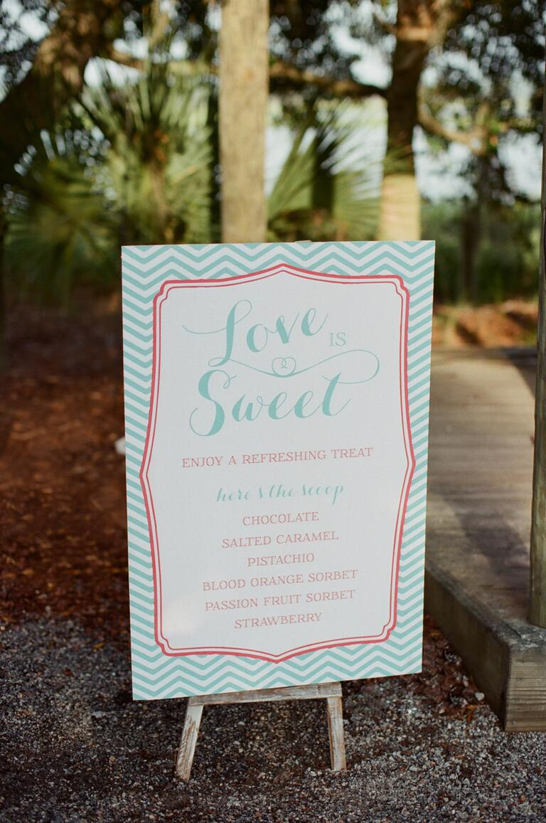 Turquoise and coral reception board