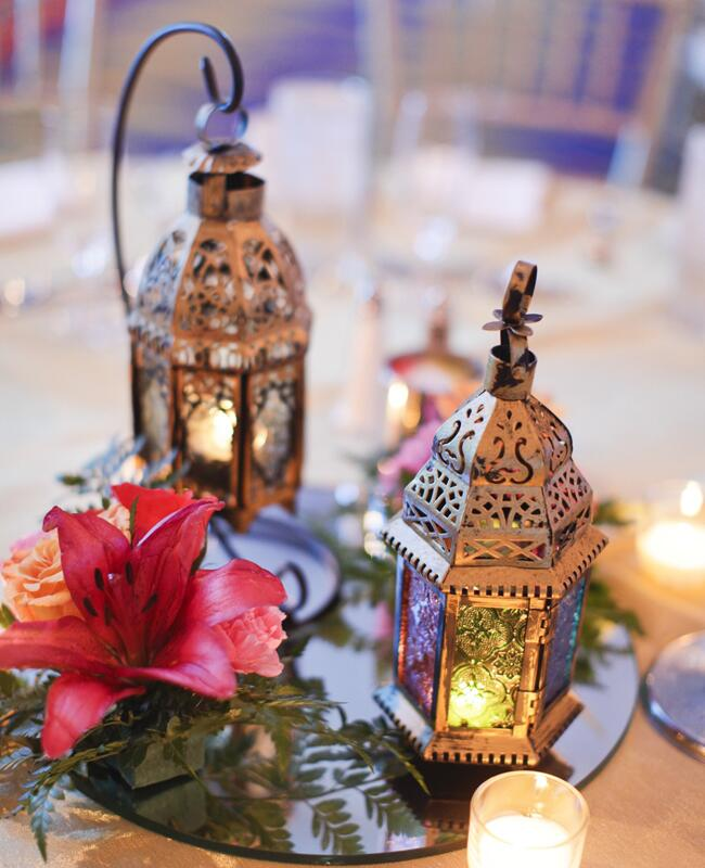 Copper Lantern Centerpieces | Alders Photography | blog.TheKnot.com