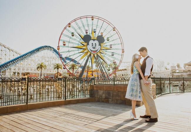 California Adventure Engagement Photo | Sloan Photographers | From blog.theknot.com