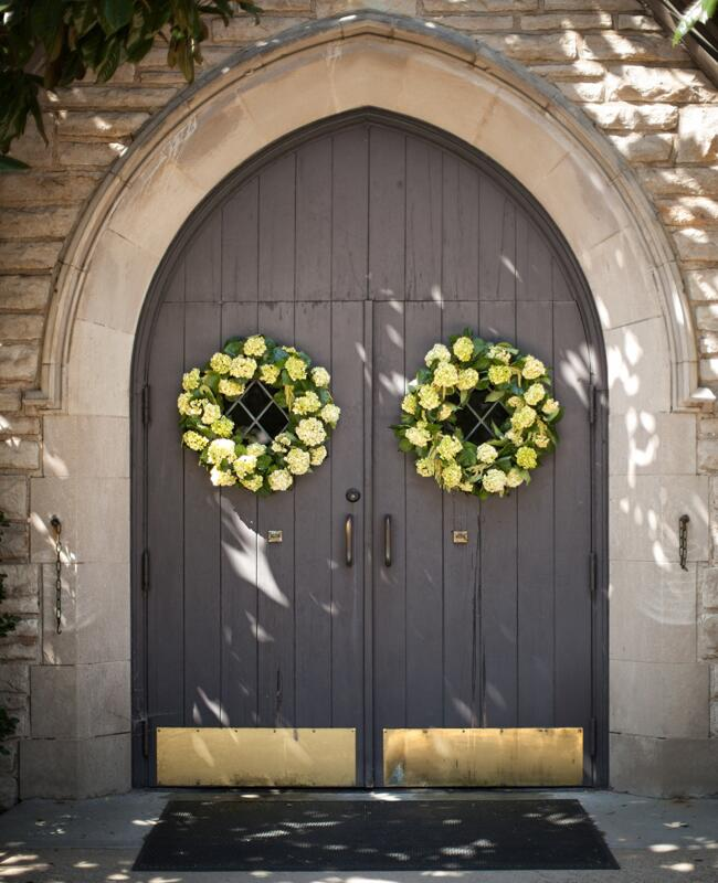 12 Places To Use Wedding Wreaths