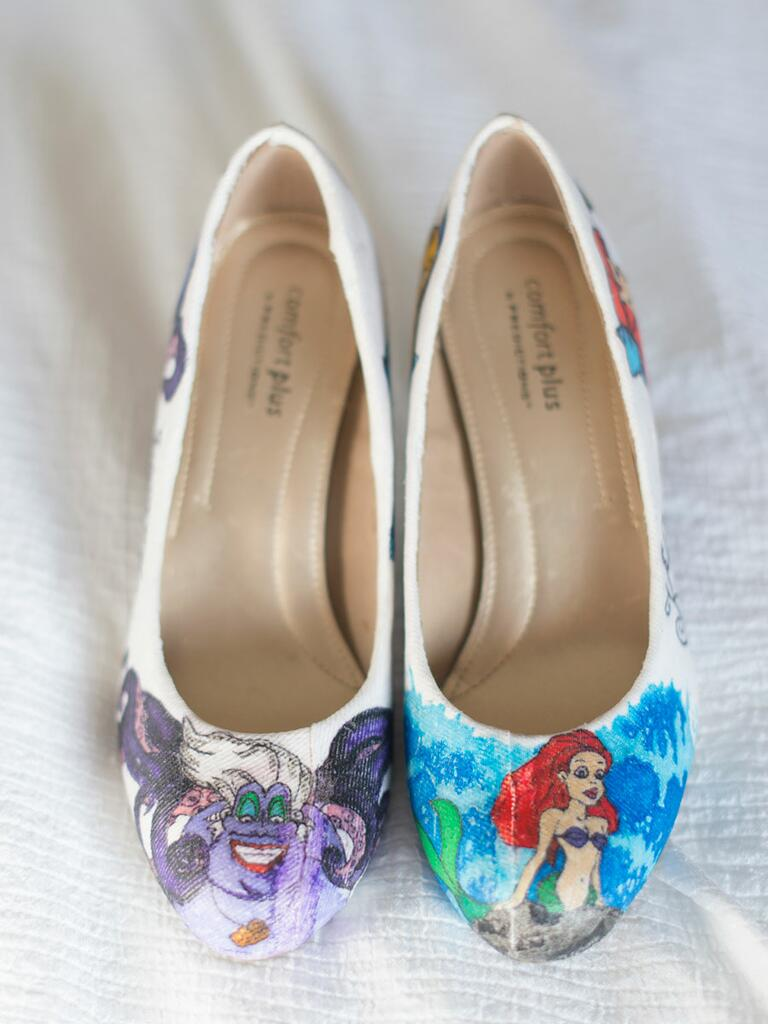 'Little Mermaid' wedding shoes