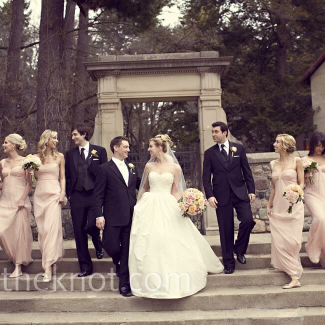 A Traditional Wedding In Detroit Mi: Pink Bridesmaid Dresses