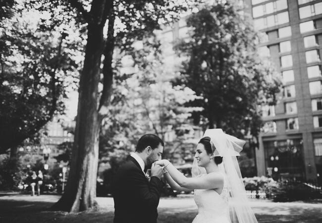 couple's first look | Lime Green Photography | blog.theknot.com