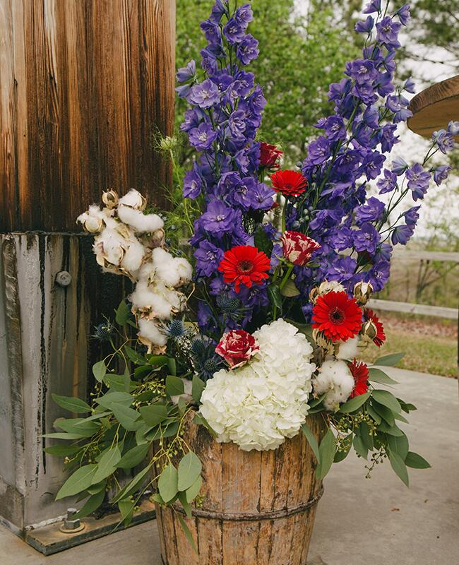 Wedding Altar Flowers With Eucalyptus: Wedding Bouquets, Boutonnieres And Centerpieces With