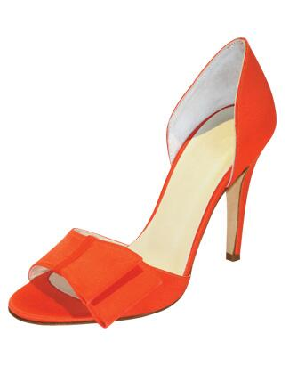 Orange Bow Shoes