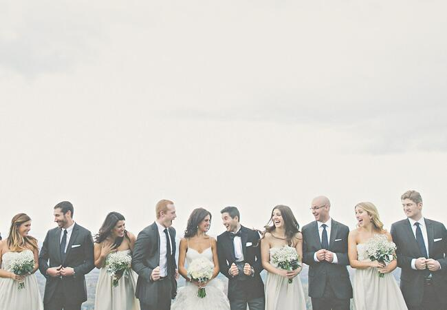 Neutral Wedding Party | The Shultzes | The Knot Blog