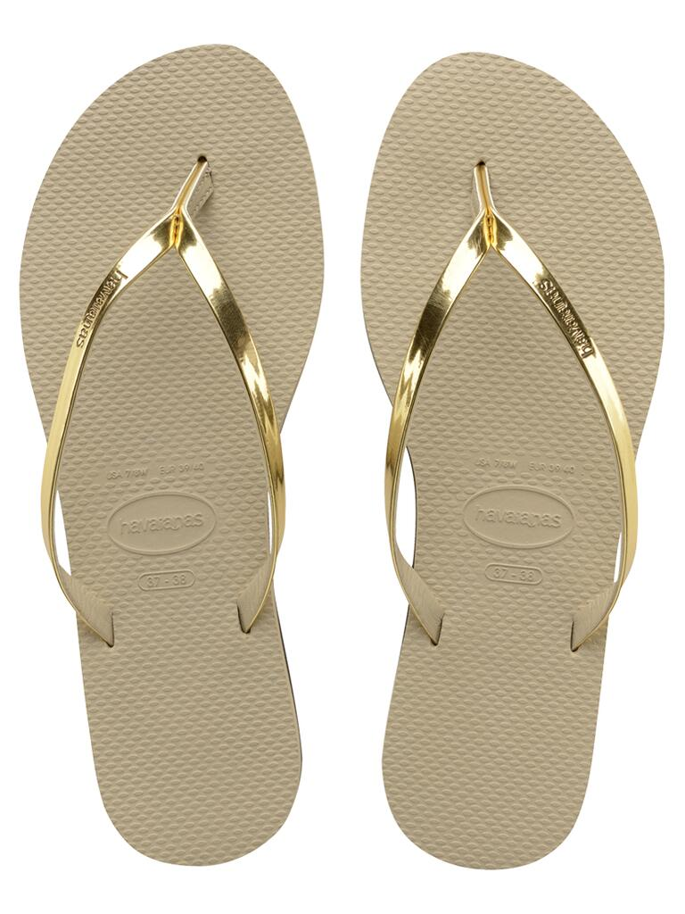 Havaianas Light Golden You Metallic Flip Flops
